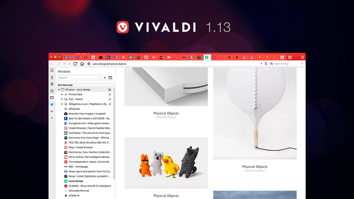 Vivaldi Browser 1.13