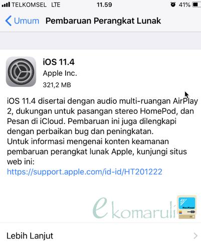 update iOS 11.4