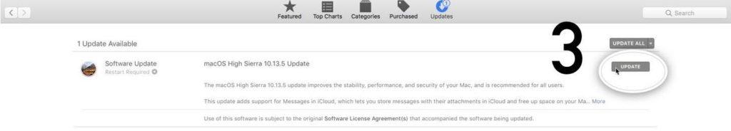 Pembaruan macOS 10.13.5 - Step 3